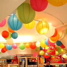 1Pcs Wholesale Retail 6 inches 15cm Round Chinese Paper Lantern For DIY Birthday Wedding Party Hanging decoration gift craft(China)
