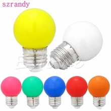1W E27 mini LED Golf Ball Bulb Globe Light in Blue, Red, Green, Yellow,White #S018Y# High Quality(China)