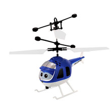 Remote Control Helicopter Cartoon Aircraft Plane Model USB Charging Gift Indoor Toy(China)