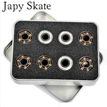 Japy Skate 16pcs BSB White Ceramic Bearings White Pottery Beads Zirconia Bearing Roller Bearing Slalom Skate Bearing 608ZZ SEBA(China)