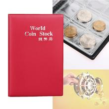 Portable 120 Coins Collection Album Money Coin Cases Collection Penny Book Pockets Storage Holder Collector Craft Gift Red A391