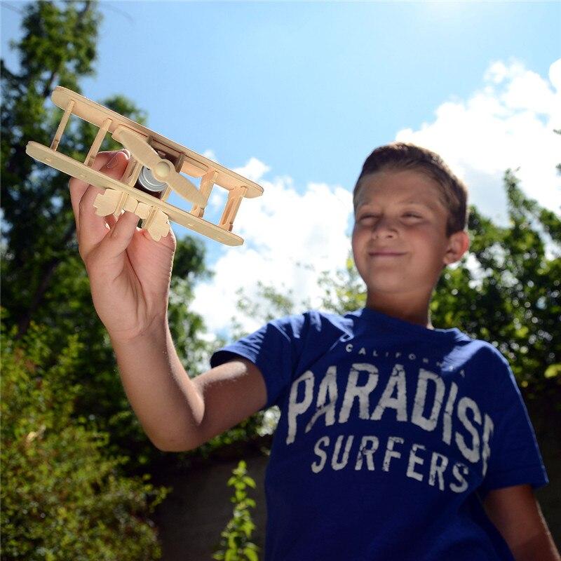 Robud 11 Kinds Solar Energy Powered Plane 3D Wooden Model Building Popular Creative Toys Hobbies Gift for Children,Teens P250 30