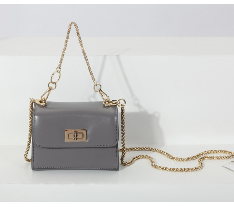 red messenger bag black mini chains flap bags women genuine leather brand design shoulder bags grey green high quality totes<br>
