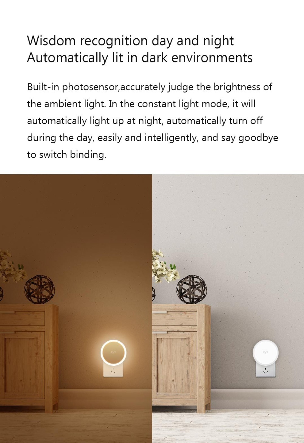 Bundled Sale Xiaomi mijia Yeelight induction night light (plug-in version) YLYD03YL led lamp bed lights for bedroom corridor Wal (12)