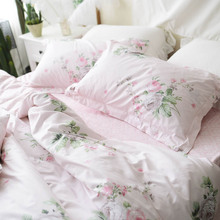 M5 Bedding Set Queen King Romantic French Style Rose Duvet Cover Set + Pillowcases 4pcs 1.8m 1.5m 100% Cotton Bed Set Home