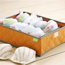 7 Grids Hot Selling Nonwoven Bra Organizer Underwear Storage Box Container Drawer  Lidded Closet Boxes For Ties Socks