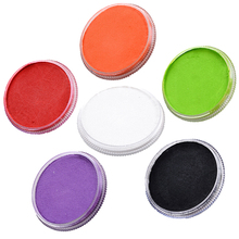 30g Face Paint Body Painting 6 Colors Choice Safety Drawing Pigment Water-based Face Makeup Cream Paste Party Pumpkin Halloween