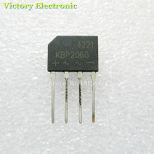 10PCS/Lot Original New KBP206 KBP206G DIP Bridge Rectifier 2A 600V Wholesale Electronic(China)