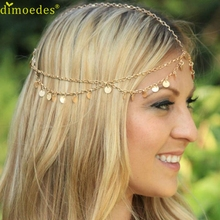 Diomedes Gussy Life 8 wholesale Fashion Chain Jewelry Chain Headband Head shiny Piece Hair Band Tassels Feb8