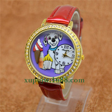 New  POLYMER CLAY Korea Diamond Dress Woman Female clock Lady quartz WristWatch cartoon Ice cream dog watch Relogio Feminino