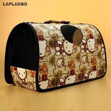 Brand Pet dog backpack carrying dog cat travel bag foldable dog carriers for small dogs plaid removable pet carrier bag ZL389(China)