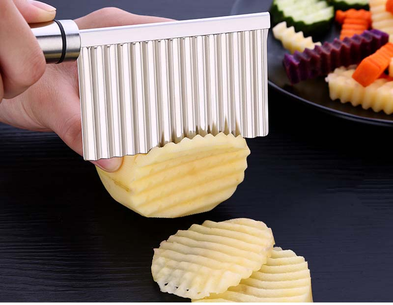BalleenShiny Potato Slicer Cutter Knife Kitchen Gadgets Accessories Cooking Tools Stainless Steel Fruit Vegetable Chip Cut tool 10