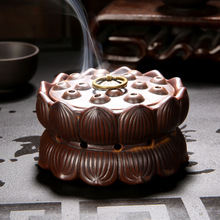Creative Lotus Flower Burner Tower Incense Cones Burner Incense Stick Incense Coil Holder Ceramic Censer Decoration