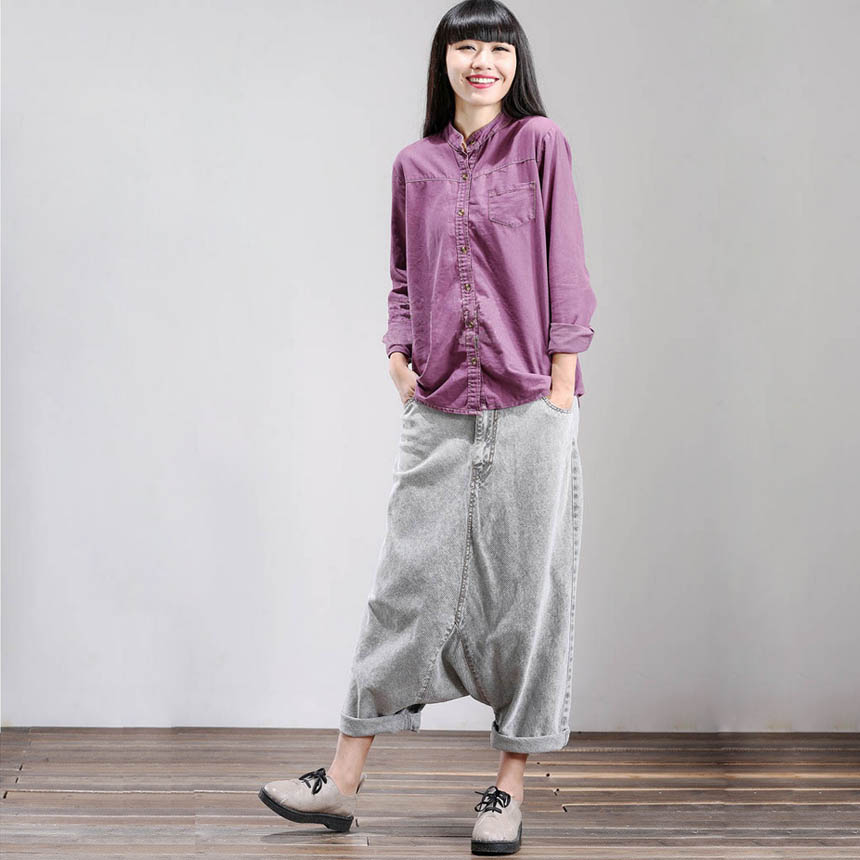 Fashion Women Loose Washed Jeans Cross-Pants 2017 New Original Wide Leg Drop Crotch Denim Harem Pants M/LОдежда и ак�е��уары<br><br><br>Aliexpress