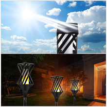 Outdoor Garden Yard Lawn Driveway Decorative Lamp Solar Garden Torch Lights 96 LED Waterproof Flame Lighting Landscape Lamp(China)