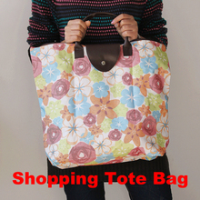 2016 Floral Daisy Green Tree Flower Cotton Linen Canvas Shopping Tote / opvouwbare tas New Eco Handbags Reusable Shoulder Bag