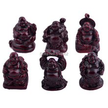 Fengshui Six Small Laughing Buddha Figurines /resin buddha figurines(China)