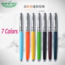2Pcs/Lot Hero Fountain Pen Fine 0.38mm Nib Vintage Roller ball pens Handwriting calligraphy(China)