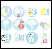Nordic Decoration DIY Personalized infant boy Girl Month Stickers decorative stickers For Baby gift
