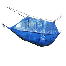 2017 2 Person Parachute Hammock Double Wide Solid Outdoor Patio Yard Camping Safety & Survival Z906(China)