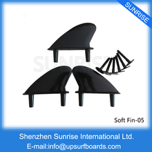 Soft Fins Black FCS Surfboard Fin Surf Quilhas(China)
