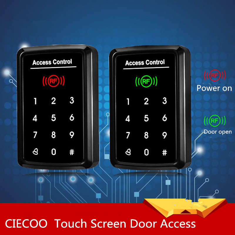 125KHz ID/EM RFID Touch Screen Keypad Door Access Control Reader 1000 Users ,Standalone Access Control Reader<br>
