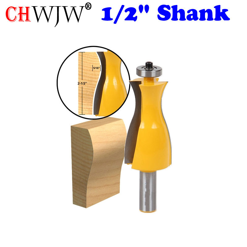 1pc 1/2 Shank Wavy Jewelry Box Side Wall Router Bit Line knife Door knife Tenon Cutter for Woodworking Tools<br>
