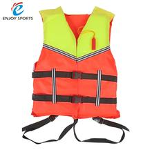 Adult Life Jacket Vest PFD Fully Enclose Foam Boating Water Fishing Safety Jackets Aid Boating Surfing Vests With Whistle
