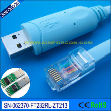ftdi ft232r rs232 serial to rj45 console cable for cisco router h3c huawei fortinet router