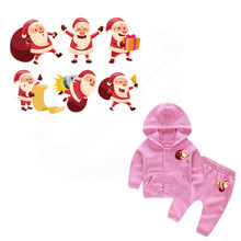 Christmas elderly child T-shirt Sweater DIY Accessory A-level Washable Iron-on Transfers Heat Press Appliqued(China)