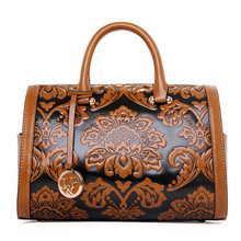 Fashion vintage Chinese national style trend women's handbag boston bag women's one shoulder handbags