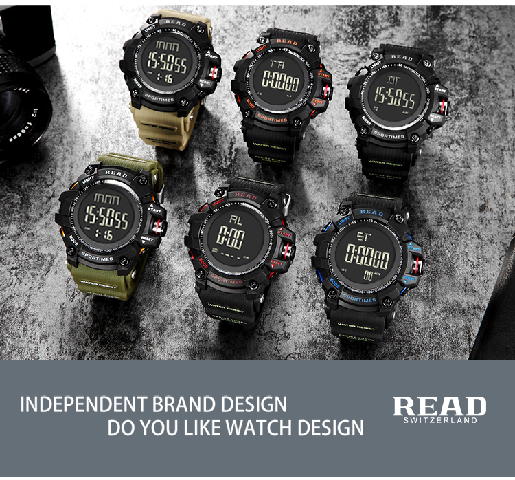 luxury brand READ LED digital wristwatches for men waterproof shock resist military watch free shipping 2018 (14)