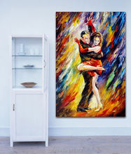 The Sublime Tango Hot Pas De Deux Canvas Printing Modern Wall Picture for Living Room Decoration