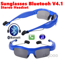 Sport Wireless Headset A2DP HiFi Hands-Free Sunglasses Bluetooth 4.1 Earphone For iPhone 4 5 5s 6 6s Plus Samsung Galaxy Note LG