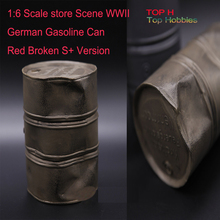 1:6 Scale store Scene Accessory WWII German Gasoline Can 1/6 Red Broken S+ Version Model Fit 12 Inch Figure Use