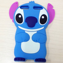 3D Cute Blue Stitch Cartoon Cases For Apple iPod Touch 5 Touch 4 3D Soft Silicone Case Back Cover for iPod Touch 5th Generation