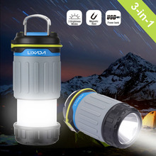 3W LED Rechargeable Camping Lantern Light 3 Modes Power Bank with USB Port Magnet Ultra Bright Portable Tent  Emergency Use