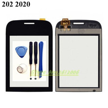 Original High Quality 3.0'' FOR Nokia Asha 202 2020  Touch Screen Digitizer Sensor Front Glass Lens panel + tools