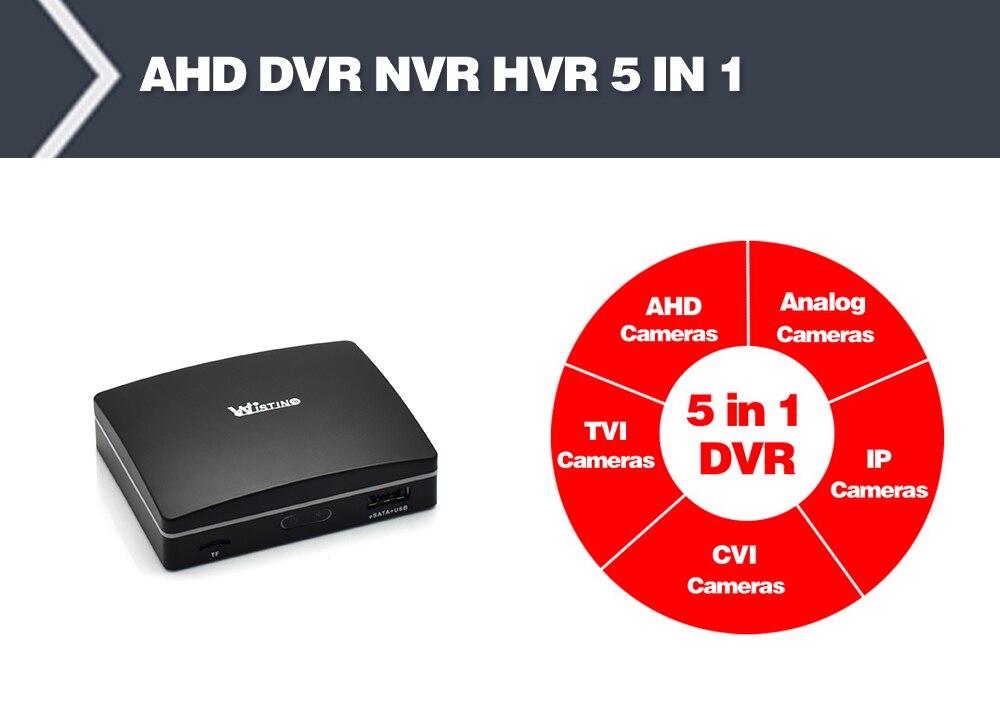 Wistino 1080P Mini AHD Camera Kits 4CH Digital Video Recorder DVR Kit CCTV Security Analog Camera Outdoor IR Video Surveillance (9)