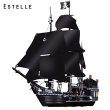 Pirates Of The Caribbean Black Pearl Ship Model Building Blocks Educational Toys For Kids Legoinglys Bricks Birthday Gifts(China)