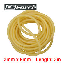 3mm x 6mm Natural Latex Slingshots Rubber Tube 3m Tubing Band for Hunting Catapult Elastic Part Fitness Bungee Equipment 3060(Китай)