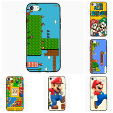 Super Mario Bros Game For Samsung Galaxy S Note 2 3 4 5 6 7 Edge Active Mini Cell Phone Cases Cover Shell Accessories Decor Gift(China)