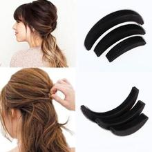 3Pcs/set Different Sizes Fluffy Crescent Clip Bangs Paste Root Hair Increased Device Good Hair Heighten Tools for Girl(China)