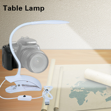 Desk Lamp USB LED kindle Book Night Reading Lamp For Bed Modern Spring Clip Light Bedside Flexible Student Table Lamp with clamp