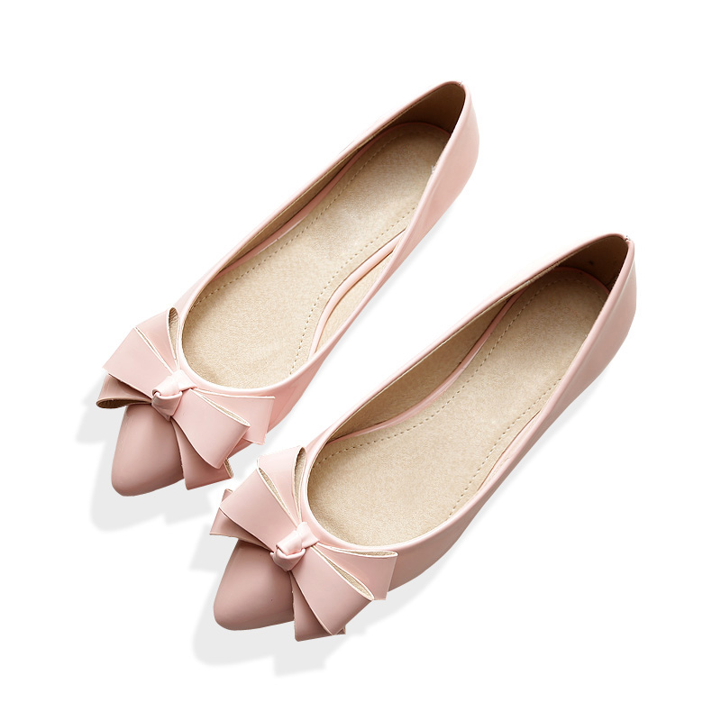 Plus Size Women Flats Comfortable Soft Ballet Flats Silver Gold Women Boat Shoes Slip on Zapatos Chaussures Femme Casual Shoes<br><br>Aliexpress