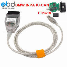 For BMW INPA K+DCAN Ediabas Diagnostic Tool With FTDI FT232RL Chip INPA K CAN USB Interface For BMW Series Scanner(China)
