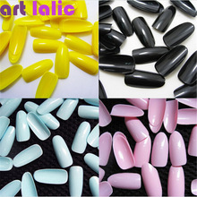 Artlalic 500 Pcs French False Art Full Round Acrylic UV Gel Tips 14 colors best gift for lady Nail make up