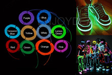 10Color Flexible Neon LED Light Lamp EL Wire Rope Strip Tube for Shoe Clothing Dance Party Decor With Controller