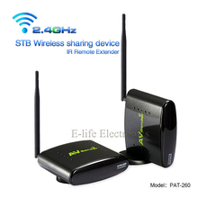 PAT-260 2.4G 350M Smart Wireless AV Sender Transmitter Receiver With IR Remote Extender The set-top box sharing