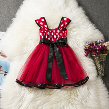 Summer Baby Girl Dress Minnie Mouse Dresses For Girls Party Dress Vestidos Tutu Toddler Girl Clothes Kids Minnie Cosplay Costume